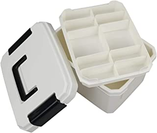 Qsbon Storage Box Container Family Medicine Box First Aid Box Organizer with Removable Inner Tray