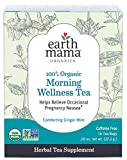 Earth Mama Organic Morning Wellness Tea Bags for Occasional Sickness, Green, 16 Count