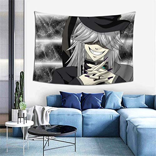 Hdadwy Black Butler Under Taker 4 Wandteppiche Wandbehang Anime Wandteppiche Wandkunst Wandteppich Wohnkultur für Schlafzimmer Wohnzimmer Wohnheim (40 x 60 Zoll)