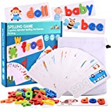 Toys for 3-8 Year Old Girls, Tisy Spelling Game Educational Toys for 3-8