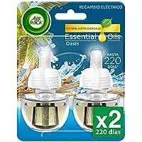 Air Wick Eléctrico - Recambios de ambientador, esencia para casa con aroma a Oasis Turquesa - pack de 2