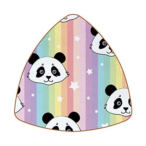6 posavasos con diseño de estrellas de panda, para tazas y tazas