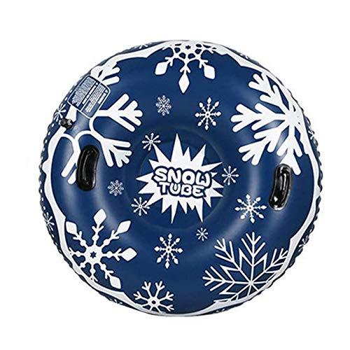 Earthily Aufblasbare Schlitten für Erwachsene Kinder - 43 Zoll Aufblasbare Snow Tube, Ideal für den Winter Outdoor-Spaß