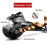 Automatic Hair Steam Curler ARINO Ceramic Hair Curler Professional Curling Iron Wand Ceramic Curling Flexible Hair Curlers for Beautiful Style & Shine, LED Digital Display Black