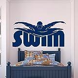 Gimnasio deportes ejercicio pared calcomanía pegatina piscina regalo niño habitación decoración Mural pared pegatina A8 25x53cm
