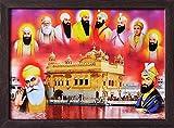 Nanak Dev DEV Ji und Gobind Singh geben Blessings mit anderen Acht Sikh Guru, eine Sikh Religiöse...