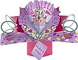 Idea Regalo Rosa Lsgepavilion Biglietto di Auguri Pop-up 3D per Festa della Mamma con Rose e Fiori