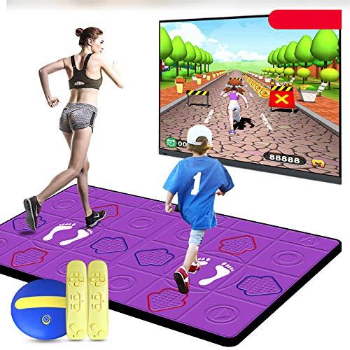MKIU Drahtlose Doppeltanzmatten, Faltbare HD-AV-Videospiel-Yogamatten Mit Somatosensorischen Griffen HD-TV-Computer Für Erwachsene Und Kinder Dual-Use-Spielmatte