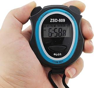 Yumira - Reloj deportivo digital con cronómetro, impermeable, con correa para el cuello, alarma, calendario, temporizador,...