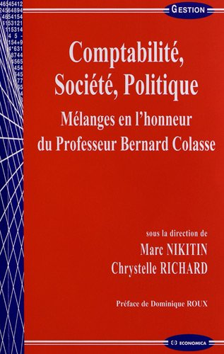Comptabilité, société, politique