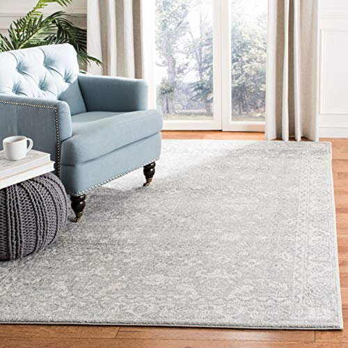 Safavieh Evoke Collection EVK270Z Vintage Silver and Ivory Area Rug (4' x 6')