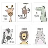 Set of 6 Baby Room Pictures for Nursery/Nursery/Nursery/Decorations/Nursery/Forest Animals/Room Pictures for Girls and Boys