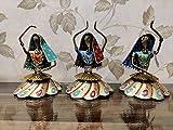 Crafting with Love - Juego de 3 bailarinas de metal colorido para mejorar la belleza de tu hogar, 20 x 14 cm cada uno aprox.