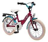 BIKESTAR Bicicleta Infantil para niños y niñas a Partir de 4 años | Bici 16 Pulgadas con Frenos | 16' Edición Clásica Berry Turquesa