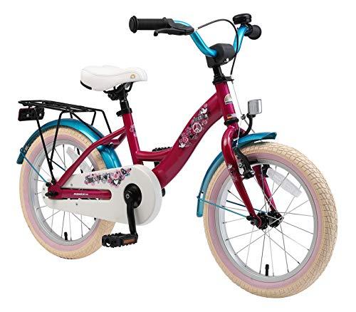 BIKESTAR Kinderfahrrad für Mädchen ab 4-5 Jahre | 16 Zoll Kinderrad Classic | Fahrrad für Kinder Berry & Türkis | Risikofrei Testen