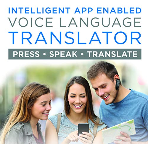 Supreme Tech Portable Language Translator Device – Translate Headphone – Voice Translation Earpiece – Real Time Two-Way Translation Gadget – Bluetooth Multi-Language Support - 5 Modes & Call Answering