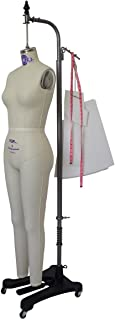 Professional Missy Female Full Body Dress Form Tailor Dummy Mannequin Collapsible Shoulders Sizes 2-12 (8)