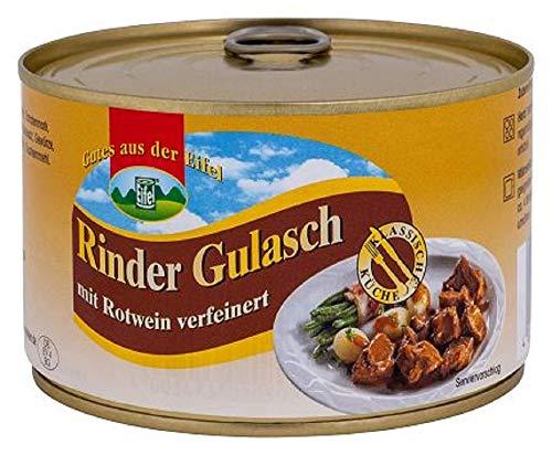Eifeler Rinder Gulasch Mit Rotwein verfeinert. 1x400 Gramm