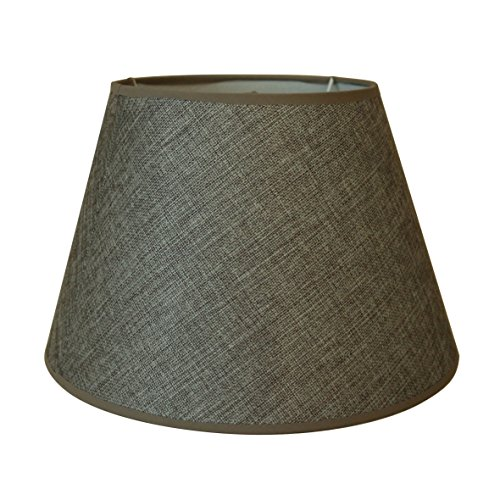 CVHOMEDECO. Graue Leinwand-Lampenschirm für Vintage rustikale primitive dekorative Tischlampe, 30,5 cm