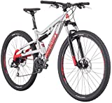 Diamondback Bicycles Recoil 29er Full Suspension Mountain Bike, Light Silver, 16'/Small