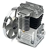 Air Compressor Pump, 1.5KW 2HP 175L/MIN Aluminum Air Compressor Head Piston Compressor Oil Lubricated Air Compressor Pump, Air Compressor Pump with Silencer, Screw, Breathing Nozzle