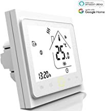 WiFi Programmable Gas Boiler Thermostat LCD Display Temperature Controller Compatible with Alexa Google Home 3A (3A for Boiler Heating(WiFi), Full White)