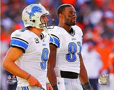 "Matthew Stafford & Calvin Johnson Detroit Lions Action Photo (Size: 8"" x 10"")"