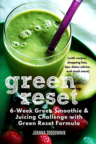 Green Reset 6 Week Green Smoothie and Juicing Challenge with recipes shopping lists tips detox product image
