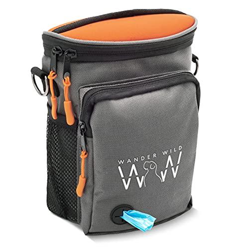 Wander Wild Upgraded Dog Treat Bag with Neoprene Split-Top; Stylish, Quality Dog Training Treat...