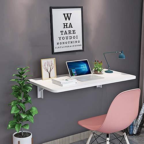 JXJ Mesa plegable pequeña montada en la pared, mesa de comedor, escritorio de aprendizaje plegable para ordenador, soporte resistente (tamaño: 60 x 40 cm)
