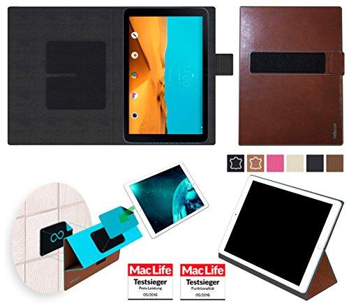 Hülle für LG G Pad II 10.1 Tasche Cover Hülle Bumper | in Braun Leder | Testsieger