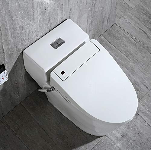 WOODBRIDGE Toilet & Bidet Luxury Elongated One Piece Advanced Smart Seat with Temperature Controlled Wash Functions and Air Dryer, Toilet with Bidet, Bidet & Toilet T-0737 3 <p>✅Include WOODBRIDGE one-piece toilet and luxury bidet seat. Bidet seat fits the toilet perfectly ✅Modern design: sleek, low profile skirted elongated one-piece toilet, comfort height, water sense, high-efficiency ✅Hygiene: posterior wash, feminine wash, pulsating wash, adjustable water pressure, hygienic filtered water ✅Comfort: water heater, warm air dryer, unlimited warm water, heated seat (5 adjustable temperature), with oscillating and gentle massage pulse functions ✅Convenience: safety on/off sensor, self-cleaning nozzles with stainless steel material. Quick release seat for easy cleaning. Energy save mode design ✅ 2-year limited manufacture</p>