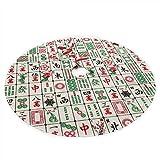 COJOP Chinese Mahjong Christmas Tree Skirt - Classic Holiday Decorations