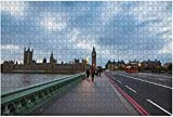 1000 piezas-Londres 4 de noviembre The Big Ben Las casas del parlamento y Westminster Rompecabezas de madera DIY Niños Rompecabezas educativos Regalo de descompresión para adultos Juegos creativos Ju
