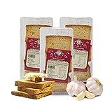 Carioni Food & Health Pan Tostado con ajo - 150 gr (Paquete de 3 Piezas)
