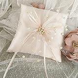 cuscino portafedi,1 pezzo anello nuziale cuscino beige anello cuscino anello cuscino per anelli nuziali per proposte di matrimonio, cerimonie forniture per la decorazione della festa nuziale.