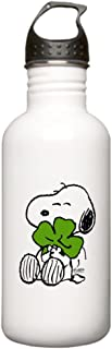 CafePress Snoopy Hugging Clover Stainless Water Bottle 1 Stainless Steel Water Bottle, 1.0L Sports Bottle