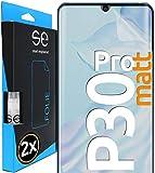 smart engineered [2 Stück] Entspiegelte 3D Schutzfolien kompatibel mit Huawei P30 Pro, hüllenfre&liche Matte Bildschirmschutz-Folie, Schutz vor Dreck & Kratzern, kein Schutzglas