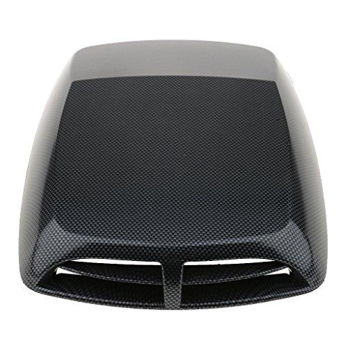 Gazechimp Universal Lufthutze für Motorhaube Sport Style Hochwertig Auto Dekoration Lufteinlass Lüftungseinlass Luft Hutze - Schwarz
