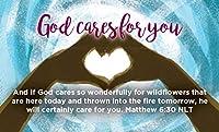 子供と若者 聖書のカード God Cares for You マタイ6:30 25枚パック