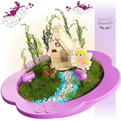 Light-up Fairy Garden Kit for Kids - Craft & Grow Your Own Indoor Gardening - Gift for Girls & Boys : Includes Everything for Planting a DIY Magical Enchanted Gardens - Fun STEM