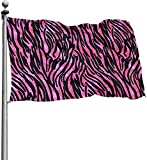 Oaqueen Flagge/Fahne, Sex Pink Leopard Grain Garden Flag 4x6 FT Banner with Brass Grommets Fly Breeze House Indoor Outdoor Home Boat Yacht Car Decorations,Single-Sided