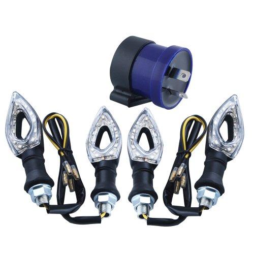 Preisvergleich Produktbild THG Mit Blinkrelais 4 PCs 11 LED Design-Hohl Motorrad Blinker Blinker Blinker Amber Light