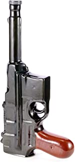 ceramic military style bottle mauser,gun,pistol souvenir for whiskey vodka brandy wine 0.5L - 17OZ.