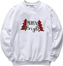 Women's Ugly Christmas Sweatshirt Crew Neck Funny Reindeer Printed Long Sleeve Pullover Top