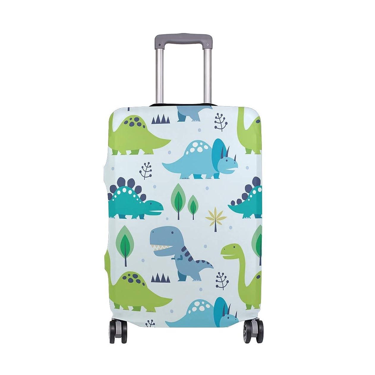 イディオム恐れ大きいスーツケースカバー 恐竜 かわいい 伸縮素材 保護カバー 紛失キズ 保護 汚れ 卒業旅行 旅行用品 トランクカバー 洗える ファスナー 荷物ケースカバー 個性的