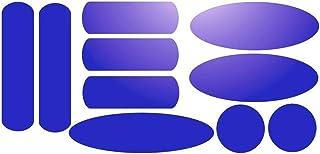 Kit de 10 stickers adhésifs réfléchissants pour signalisation sur casque Bleu Réfléchissant