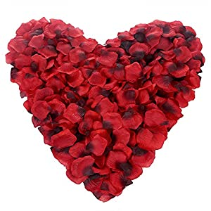 Momkids Artificial Rose Flowers Petals Fake Faux Silk Petals Bulk Valentine Day Romantic Night Decor for Home Bathtub Party Wedding Bridal Gifts Decoration