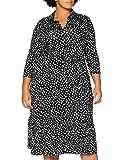 Dorothy Perkins Curve Curve Multi Spot 3 Quarter Sleeve Shirt Dress Vestido Informal, Colorido, 56 para Mujer