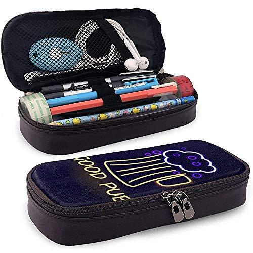 Gute Pub Bier Neon Pu Leder Federmäppchen Tasche mit Reißverschluss niedlichen Stift Federmäppchen Box Briefpapier Box